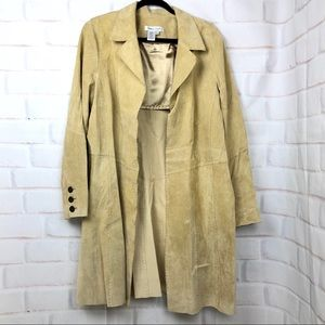 Coldwater creek tan suede trench